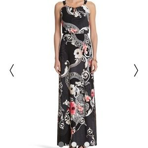 White House Black market floral maxi dress